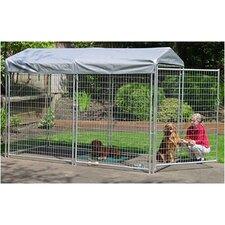 Lucky Dog Best Show Galvanized Steel Yard Kennel