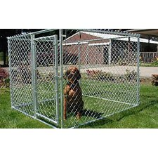<strong>Jewett Cameron</strong> Lucky Dog Champion Box Galvanized Steel Yard Kennel