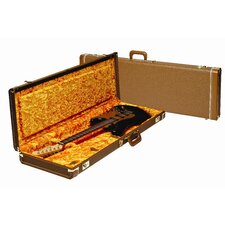 Deluxe Stratocaster / Telecaster Case with Orange Interior