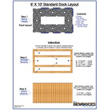 "72"" x 120"" Standard Dock Layout"
