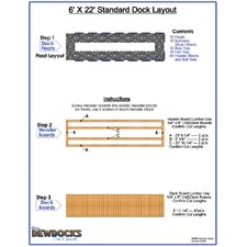 "72"" x 264"" Standard Dock Layout"