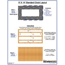 "96"" x 168"" Standard Dock Layout"