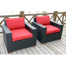 <strong>Bellini Home and Garden</strong> Pasadina Deep Seating Chair with Cushions (Set of 2)