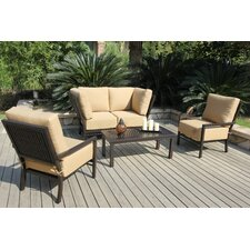 <strong>Bellini Home and Garden</strong> Monterey 5 Piece Deep Seating Group with Cushions
