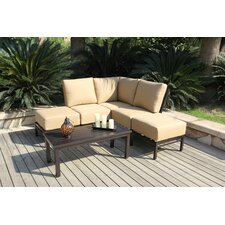 <strong>Bellini Home and Garden</strong> Monterey Corner Sectional 6 Piece Deep Seating Group with Cushions