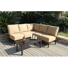 Monterey Conversation Sectional 6 Piece Deep Seating Group with Cushions