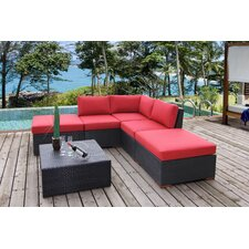 Pasadina Corner Sectional 6 Piece Deep Seating Group with Cushions