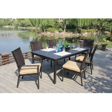 <strong>Bellini Home and Garden</strong> Monterey 7 Piece Dining Set with Cushions