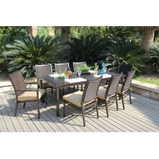 <strong>Bellini Home and Garden</strong> Monterey 9 Piece Dining Set with Cushions