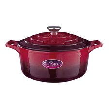 Cast Iron 20cm Round Casserole in Red
