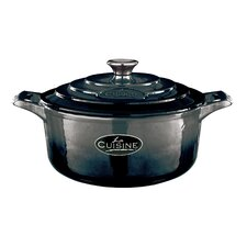 Cast Iron 24cm Round Casserole in Black