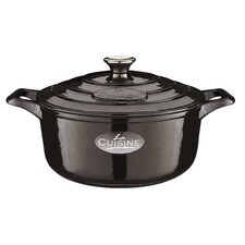 Cast Iron Elysee 26 cm Family Casserole in Black