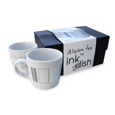<strong>Ink Dish</strong> White Noise 2 Mug Gift Set