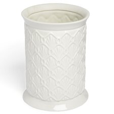 <strong>Kassatex Fine Linens</strong> Deco Fan Waste Bin