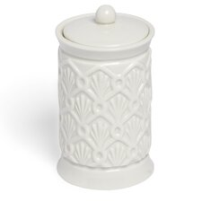 <strong>Kassatex Fine Linens</strong> Deco Fan Cotton Jar