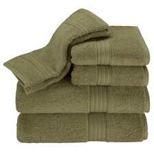 Kassadesign 6 Piece Towel Set in Moss