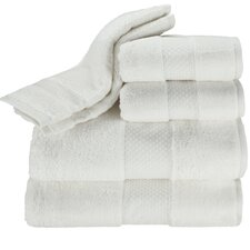 Elegance 6 Piece Towel Set in White