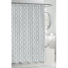 Cotton Wavy Stripe Shower Curtain
