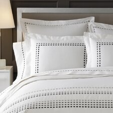 <strong>Kassatex Fine Linens</strong> Letto Tribeka Bedding Pillow Case in White / Stone (Set of 2)