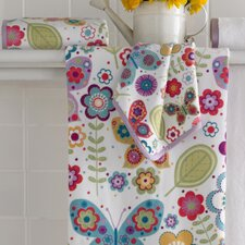 Bambini Butterflies Printed Bath Towel (Set of 6)