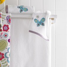 <strong>Kassatex Fine Linens</strong> Bambini Butterflies Embroidered Bath Towel (Set of 6)