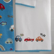 Bambini Racetrack Embroidered Bath Towel (Set of 6)