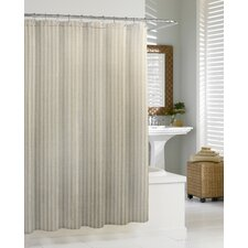 Cortina Linen Chevron Cotton Shower Curtain
