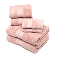 Elegance 6 Piece Towel Set in Rosette