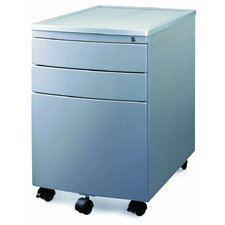 <strong>New Spec Inc</strong> MP-04 Mobile File Cabinet in Silver