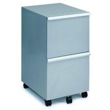 <strong>New Spec Inc</strong> MP-05 Mobile Double File Cabinet in Silver