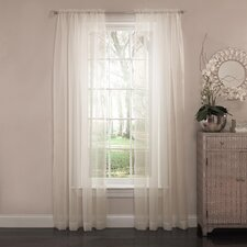 Curtain Fresh™ Rod Pocket Sheer Curtain Single Panel