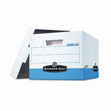 "<strong>Bankers Box®</strong> Presto Maximum Strength Storage Box, Letter/Legal, 10"" x 12"" x 15"", White, 12/CT"