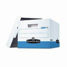 Stor/File Max Lock Box, Letter/Lgl, 12-3/4 x 15-1/2 x 10, White/Blue, 12/Ctn