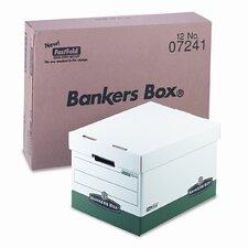 R-Kive Max Box, Letter/Lgl, Paper, 12 x 15 x 10, White/Green, 12/Ctn