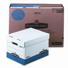 R-Kive Max Box, Letter/Lgl, Paper, 12 x 15 x 10, White/Blue, 12/Ctn