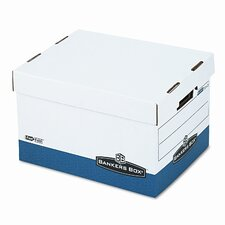 R-Kive Max Box, Letter/Legal, Paper, 12 x 15 x 10, White/Blue, 4/Ctn