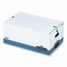 <strong>Bankers Box®</strong> FastFold Stor/File Box, Button Tie, Legal, 15 x 24 x 10, WE, 4/Ctn