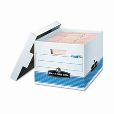 <strong>Bankers Box®</strong> Quick/Stor Lock Lid File Box, Letter/Legal, 12 x 15-1/4 x 10-1/4, WE/BE, 12/Ctn