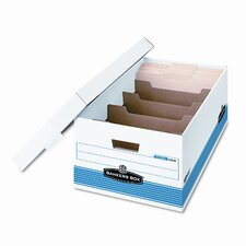 Stor/File DividerBox, Legal, 15 x 24 x 10, White/Blue, 12 per Carton