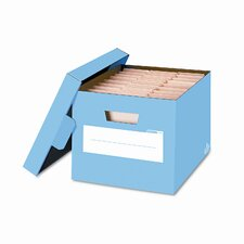 Stor/File Decorative Storage Boxes, Letter/Legal, 12 x 15 x 10, Blue, 4/CT