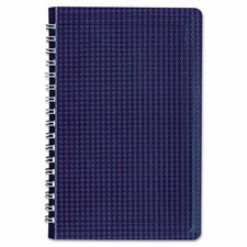 Poly Cover Notebook, 6 x 9 3/8, 80 Sheets, Ruled, Twin Wire Binding