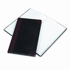 Record/Account Book, Black/Red Cover, 150 Pages, 14-1/8 x 8-5/8, 2012