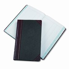 Record/Account Book, Journal Rule, BLK/RD, 500Pgs, 14-1/8 x 8-5/8