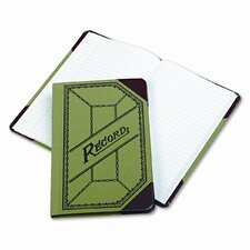 Miniature Account Book, GN/RD Canvas Cover, 208 Pages, 9-1/2 x 6