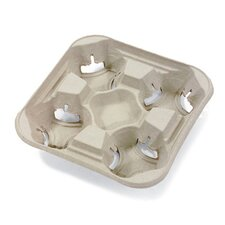StrongHolder Four-Cup Molded Fiber Tray Holder