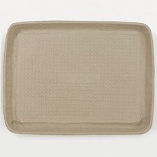 Savaday Molded Fiber Rectangular Food Trays in White