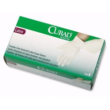 <strong>Curad</strong> Powder-Free Latex Exam Gloves, Small, 100/Box