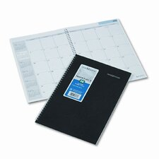 Ruled 14-Month Planner with Two-Piece Cover, 7-7/8 x 11-7/8, Black, 2015