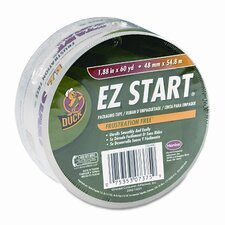"EZ Start Carton Sealing Tape, 1-7/8"" x 22 Yards, 3"" Core, Clear"