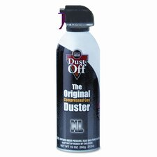 Disposable Compressed Gas Duster, 10oz Can